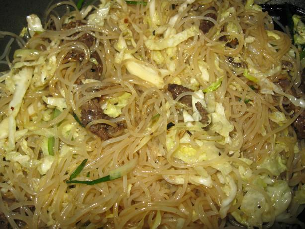 Longevity Noodles With Chicken, Ginger, and Mushrooms