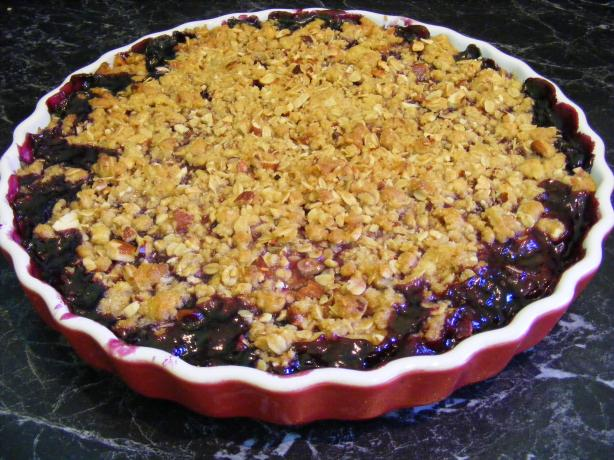 American Blueberry Crumble
