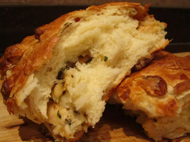 Cheesy Bread With Scallions