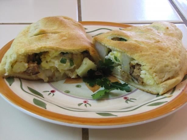 Grand Overstuffed Italian Breakfast Calzones