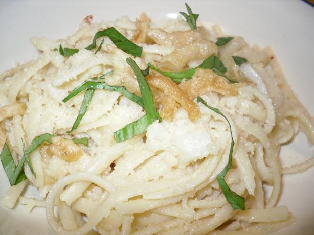 Cauliflower Onion Linguine