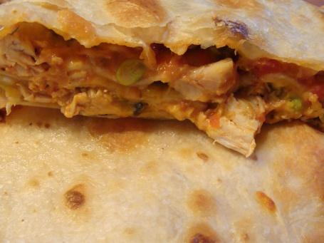 Stacked Chicken Quesadillas