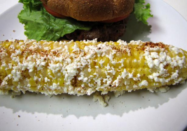 Cuban Grilled Corn With Cotija Cheese