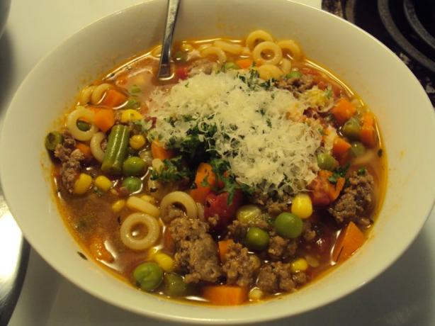 Alphabet Beef and Vegetable Soup