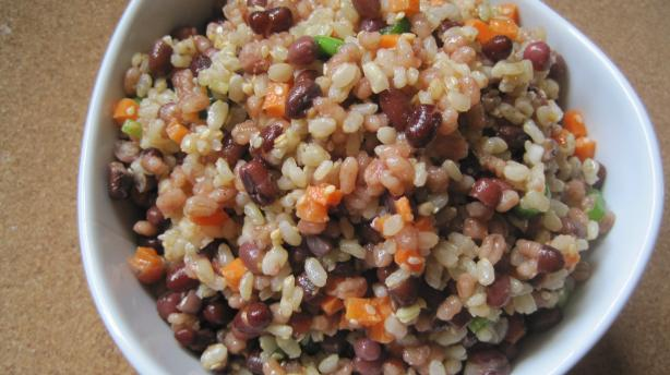 Adzuki Bean, Brown Rice Barley Salad