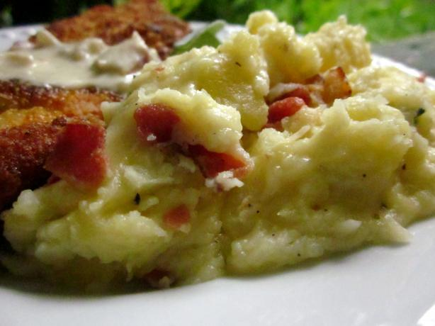 Cheesy Mashed Potatoes With Caramelized Sage Butter