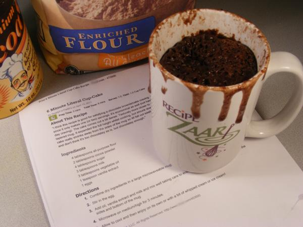 6 Minute Literal Cup-Cake