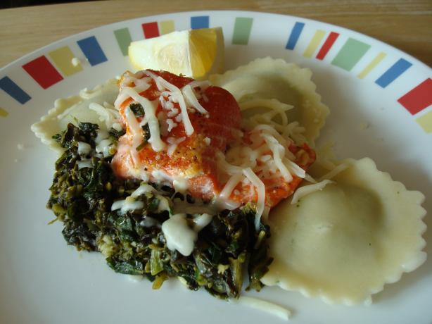 Salmon, Spinach and Ravioli