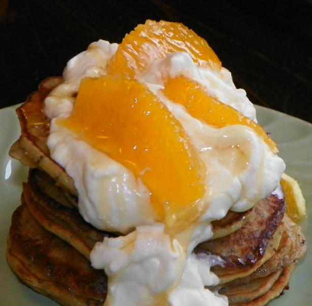 Mini Orange Poppy Seed Pancakes