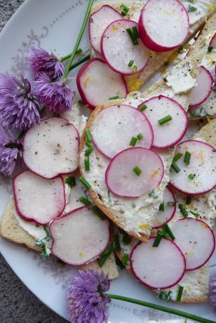 Queen Victoria's Radish Sandwich