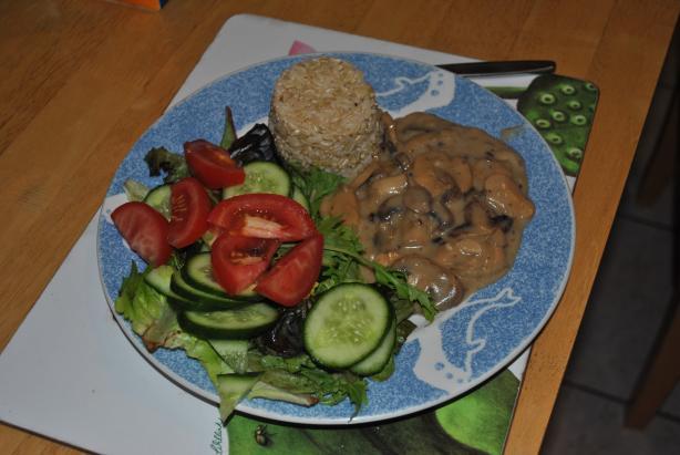 Ang's Easy Mushroom Stroganoff