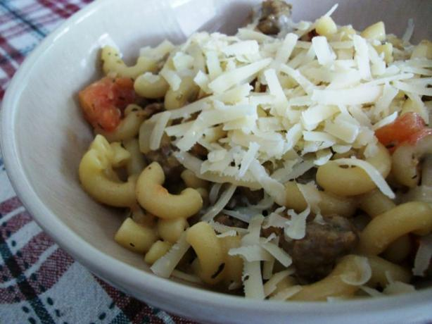 Quick and Creamy Sausage and Pasta