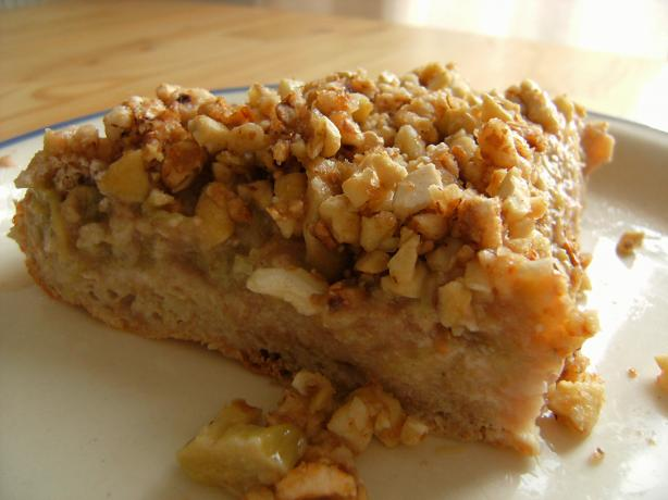 Topsy Turvy Nutty Rhubarb Cake