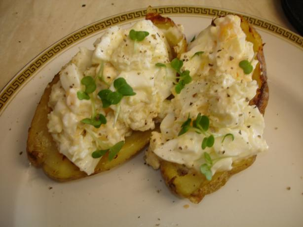 Wicklewood's Egg Filled Potato Skins