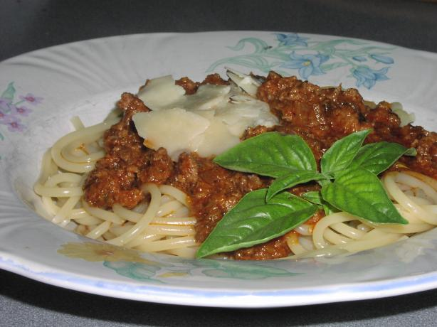 Beef Bolognese - Delish!