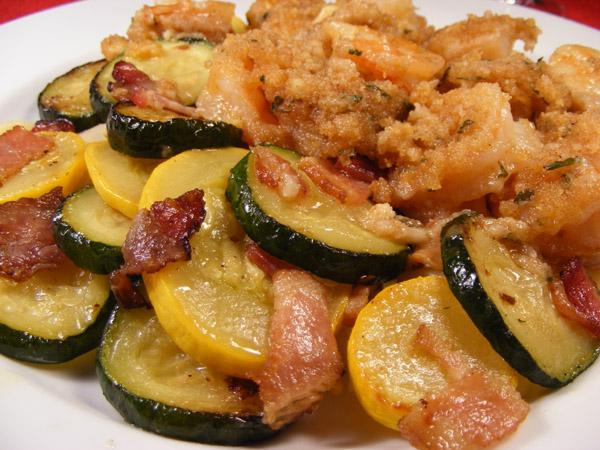 Summer Squash With Bacon