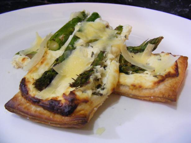 Asparagus and Parmesan Cream Pastry