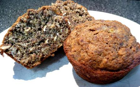 Flax and Banana Muffins