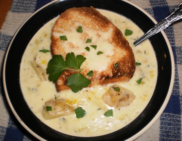 Savory Potato Leek Soup