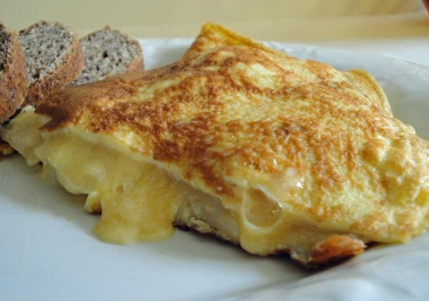Pear and Gruyere Omelet