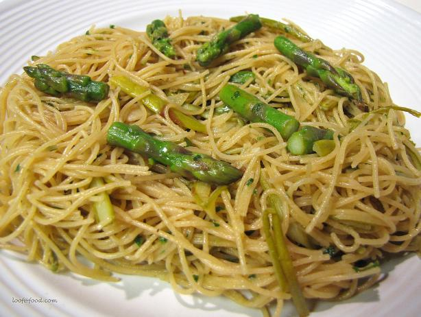 Spring Asparagus Angel Hair Pasta