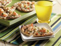 Shrimp Alfredo Grilled Pizza