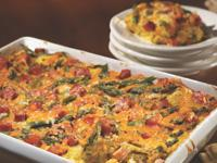 Ham, Asparagus and Cheese Strata