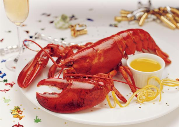Barbecued Lobster With Red Pepper and Lime Butter