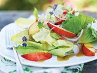 Nectarine Salad With Minted Chili Dressing
