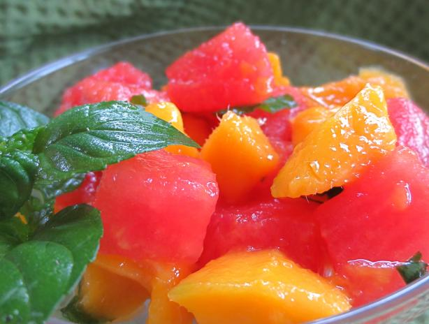 Watermelon Mango Salad