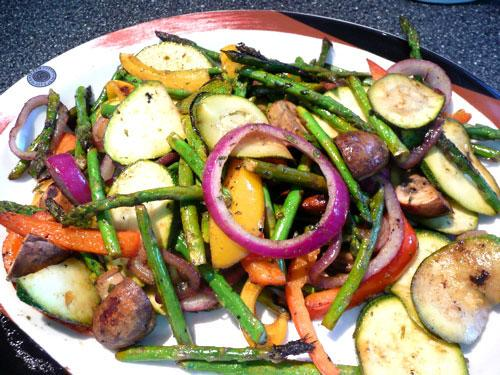 Grilled Vegetables With Green Curry Marinade