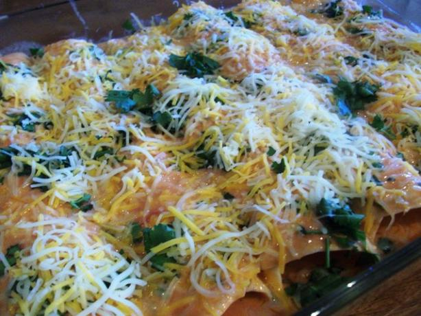Johnny Jalapeno's Chicken Enchiladas With Cilantro