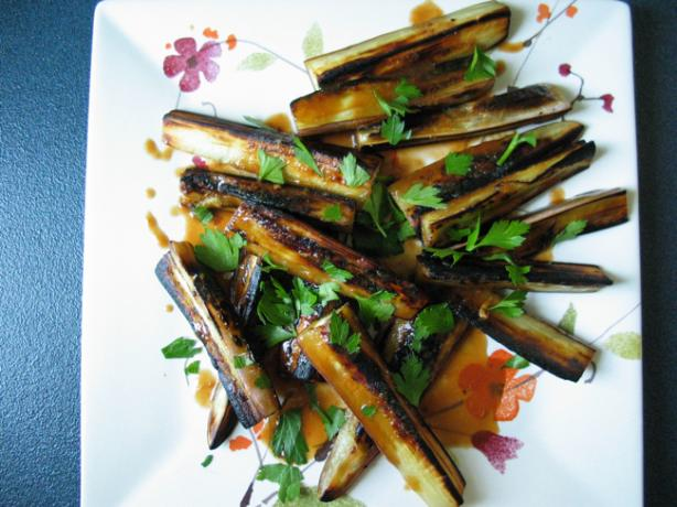 Cold Eggplant With Spicy Asian Peanut Dressing