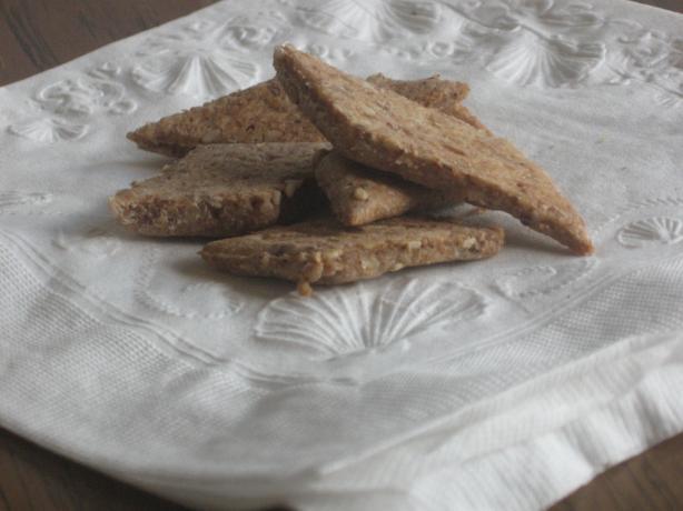 Sesame Flaxseed Crackers