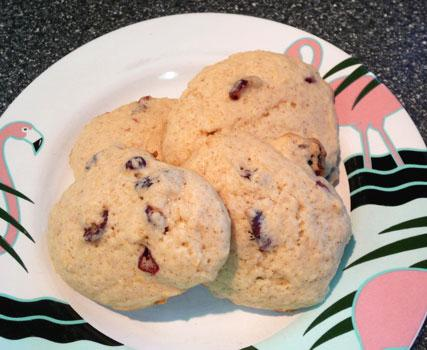 Lemon Ginger and Cranberry Crunch Cookies
