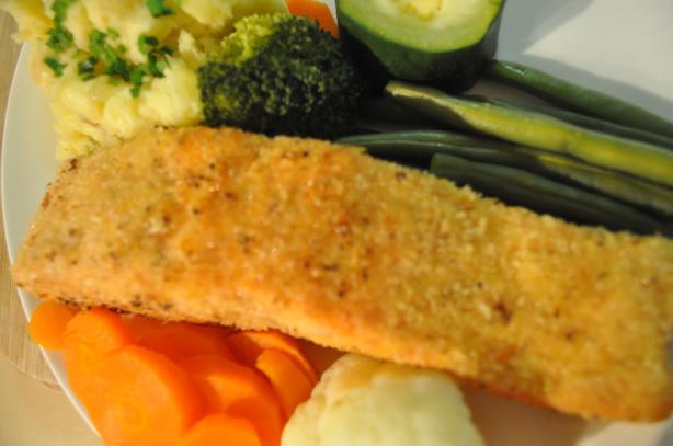Dee's Panko Breaded Pecan Salmon