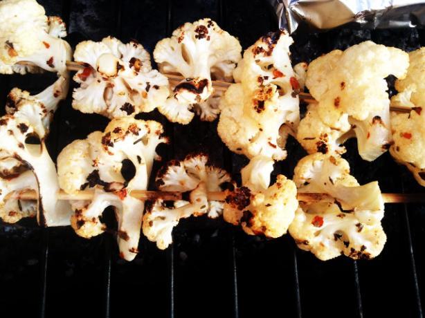 Grilled Cauliflower Skewers
