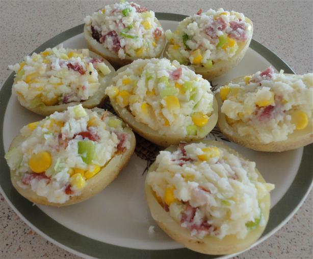 Stuffed Potato Halves