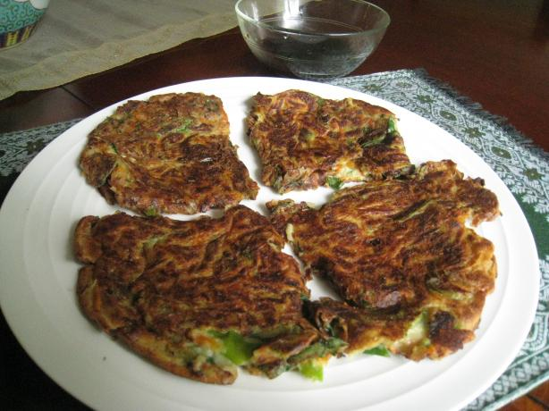 Korean Scallion Pancakes -- Pa Jun