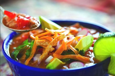 Tortilla Soup With Undercover Veggies!