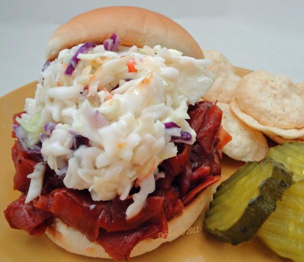 Pittsburgh Style Ham BBQ Sandwiches