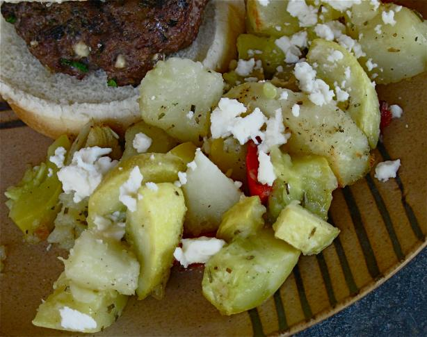 Potatoes, Feta Cheese and Peppers Delight