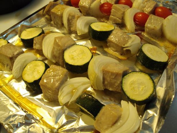 Samurai Swordfish Kebabs