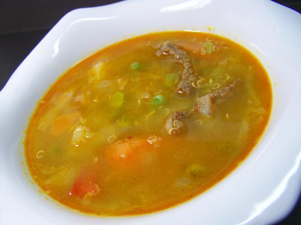 Garden Vegetables and Sirloin Soup