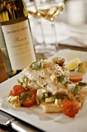 Fylde Coast Sea Bass With Jacob's Creek Reserve Chardonnay