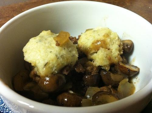 Beef and Mushroom Cobbler