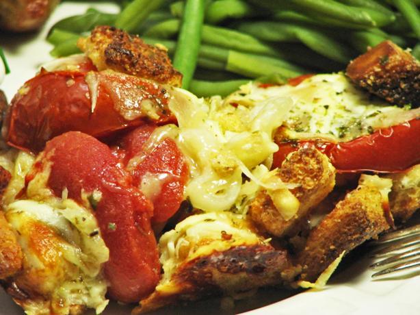 Tomato-Cheese Casserole