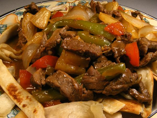 Chicken and Steak Fajita Skillet