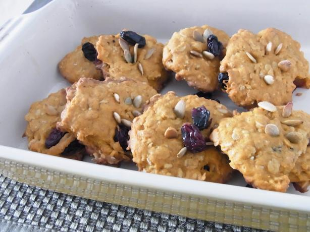 Low Calories Pumpkin Oat Meal Cookies