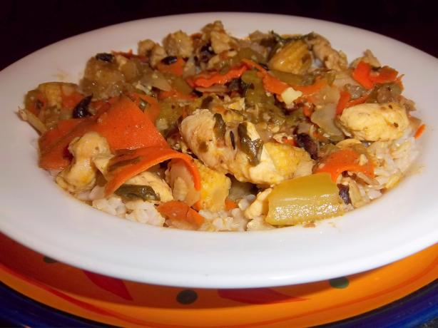 Caribbean Chicken Stir Fry